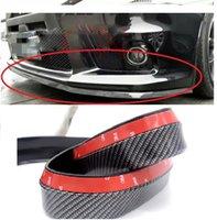 Wholesale vw front - carbon fiber rubber Front Bumper Lip Splitter Chin Spoiler Body Kit Trim for Volkswagen VW