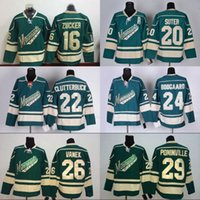 Wholesale Cheap Wild Hockey Jerseys - Mens Minnesota Wild 16 Jason Zucker 20 Ryan Suter 22 Nino Niederreiter 24 Derek Boogaard 26 Thomas Vanek Cheap Green Hockey Jerseys