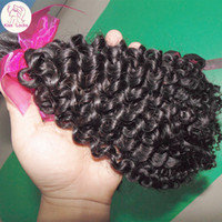 Wholesale Remy Brazilian Virgin Jerry Curl - Cheap Unprocessed Brazilian Jerry Curly Weave Hairs 300g Virgin Human Hair Baby Tiny Curls