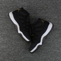 Wholesale Fishing Canvas - (With Box) 2018 Original 11 Premium Heiress black gold Pearl fish skin 11s Basketball Shoes Men Women sports Sneakers Eur 36-47