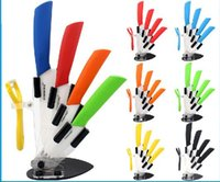 "Wholesale Cheap Quality Knives - Wholesale-Cheap high quality kitchen knife ceramic knife set 3 ""4"" 5 ""6"" inch with peeler Zirconia Chef Kitchen Tools"
