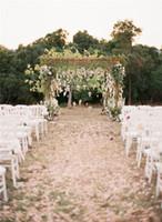 wedding decoration achat en gros de-Romantique Fleurs Artificielles Simulation Wisteria Vigne De Mariage Décorations Longue Courte Usine De Soie Bouquet Chambre Bureau Jardin De Mariage Accessoires