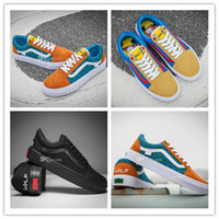 Wholesale Golf Cut - 2017 New Unveils GOLF WANG X OLD SKOOL Pro Old Skool Skateboard Shoes Women Mens Black Casual Canvas Sport Sneakers Size 36-44