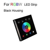 12v duvar anahtarı toptan satış-10 adet Dokunmatik Panel Uzaktan Kumanda Anahtarı 12 V 24 V Gökkuşağı Renk halka Duvara Monte Dimmer 5050 SMD RGB RGBW Şerit Işık CE ROSH