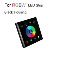 Wholesale Touch Dimmer Dc - 10pcs Touch Panel Remote Controller Switch 12V 24V Rainbow Color Ring Wall Mounted Dimmer for 5050 SMD RGB RGBW Strip Light CE ROSH