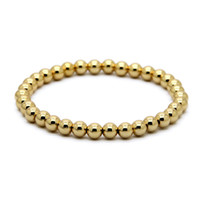 Wholesale Best Sale Ring - Hot Sale 1PCS 6mm Natural Stone Beads Jewelry Real Gold Plated Round Copper Beads Men's Bracelets Best Gift