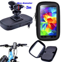 """Wholesale Bicycle Phone Frame - Bicycle Frame Bike Motorcycle Phone Holder Waterproof Bag Pouch Case with Handlebar Bracket Mount Clip Base for 4-5.5"""" Smartphone"""