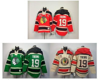 Wholesale Old Home - free shipping Chicago Blackhawks NHL Jerseys Chicago Blackhawks #19 Jonathan Toews Red Home Old Time Hockey Fleece Hoodie