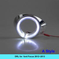 Wholesale Ford Drl Kit - NEW 2pcs LED Daytime Running Light Super Bright DRL Lamps Kit for FORD FOCUS 2012~2013 Daylight Fog Bulbs ford LED DRl