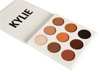 Wholesale Fashion Press - 2017 Kylie Kyshadow Eye Shadow palette the Bronze Palette Fashion Cosmetic 9 Color pressed powder Tray Box Matt Makeup Set AAA Health Beauty