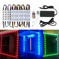 Wholesale Brightest 12v Lights - 10ft 20ft 30ft 40ft 50ft Led Modules Lights 5630 5050 RGB Brightest STOREFRONT WINDOW LED LIGHT + Remote Control + Power Supply