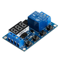 Wholesale Miniature Circuits - new 6-30V Relay Module Switch Trigger Time Delay Circuit Timer Cycle Adjustable