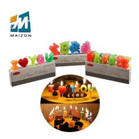 Wholesale Digital Birthday Candle - Festival holiday birthday party digital letter colorful decorate candles adluts kids party declaration china high quality candles
