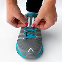 Wholesale Printed Shoelaces Wholesale - Wholesale-1 Pair Magnetic Shoe Buckles Closure Shoelaces Buckles Sneaker Magnetic Shoe Laces No-Tie Running Shoelace Buckles New