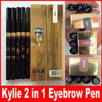 Wholesale Eye Shadow Pen Makeup - kylie birthday edition 2 in 1 waterproof Eye Shadow eyebrow pencil Easy long lastingWomen Makeup Eyeliner Pen cosmetic DHL