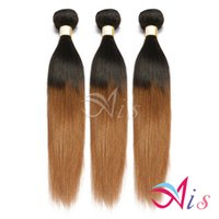 Wholesale 3pcs bundle hair straight for sale - Group buy 7A Brazilian Malaysian Indian Peruvian Hair Bundle Ombre Straight Hair Weaves Color B Human Hair Extensions Ombre Weave