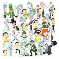 Wholesale Toy Car Stickers - 110Pcs set American Drama Rick and Morty Funny Sticker Motorcycle Notebook Waterproof Stickers Toys for car,motobike,bike