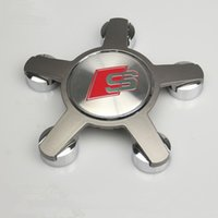emblème audi a6 achat en gros de-4pcs / lot 135mm S ligne roue Center Caps Badge pour audi A3 A4 A5 A6 A8 S6 S8 Q5 Q7 TT Sline roue centre moyeu cap S ligne emblème 4F0 601 165 N