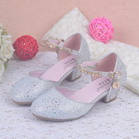 Wholesale High Heels For Children - pendant child sandals glitter party kids summer shoes for birthday girls sandals rhinestone shoes girl high heels shoes sandal