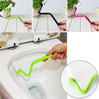 Wholesale Toilets Brushes - Portable Plastic Toilet Cleaning Brush Cleaner Scrubber Bent Bowl Handle