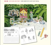 Wholesale Around My Town Secret Garden Style Coloring Book For Children Adult Relieve Stress Kill Time Graffiti Painting Drawing Book Fedex DHL Free