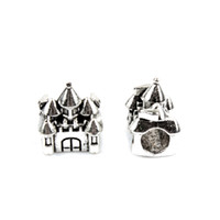 Wholesale Pandora Castle - Fashion Charms Jewelry Findings And Components Stuning Castle Bead Alloy 925 Silver Plated For Pandora Bracelet