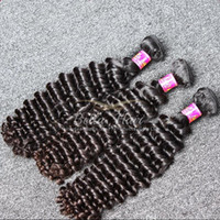 Wholesale best deep wave human hair for sale - Group buy Unprocessed Natural Color Deep Wave Human Hair Weft Grade A Best Selling Malaysian Hair Extension