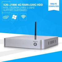 Wholesale Quad Cpu Server - Wholesale-XCY Windows8 Server Computer Celeron J1900 Quad Core 2.0GHz High Energy CPU 4G Ram 320G HDD with 2*USB3.0 Mini TV Box less Noise