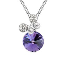 Wholesale Crystal Streamers - Austrian crystal necklace - Butterfly streamer star with money jewelry, upscale clavicle chain, manufacturers, wholesale-colours