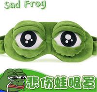 Wholesale Sleep Mask Cartoon Eyes - 2016 Hot Sad Frog 3D Sleep Mask Anime Cartoon Pepe The Frog Eye Masks Funny Cosplay Costumes Accessories Novelty Gift