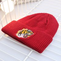 Wholesale tiger beanie hat - Autumn and winter new tiger head knitting wool knit hat female students warm male headgear wild