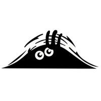 etiquetas reflexivas engraçadas venda por atacado-Espreitando Monstro Car Styling Engraçado para Auto Decalques Reflexivos À Prova D 'Água Moda Windows Adesivo de vinil decalque decorar adesivo
