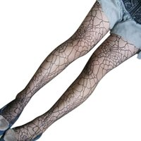 Wholesale Vintage Web - Wholesale-Black Sexy Vintage Jacquard Spider Web Pattern Mesh Pantyhose For Women