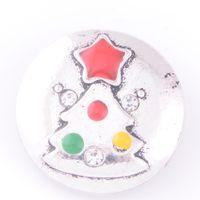 Wholesale Deer Buttons - Mix design 18mm zinc alloy Noosa chunk ginger snap jewelry Christmas series tree deer snap buttons