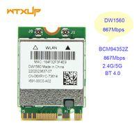 Wholesale wlan card bluetooth - Wholesale- WiFi Wireless Network Card BCM94352Z NGFF M.2 Wifi Bluetooth 4.0 06XRYC DW1560 802.11AC Wlan 867Mbps