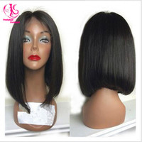 16 Under $50 Small Right part 150% density Short Bob wig synthetic lace front wig black wig cheap hair wigs with baby hair for black woman