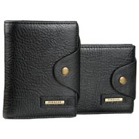 Wholesale genuine money purses for men online - Cowhide leather Men s wallet with coin pocket money bag hasp card holder purse for male