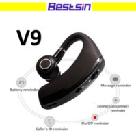 Wholesale Universal Ear Hooks - V9 Bluetooth Headset For Phone call Handfree Single Earhook Bluetooth HeadPhone for Iphone 8 Samsung S8 Note 8 with Retail Box
