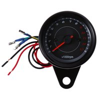 Wholesale Electric Auto Meter - B719 Universal 12V DC LED Auto Electric Tachometer Meter Gauge Shift Lighting Motorcycle Motorbike 13000 RPM Modification Parts 180423801