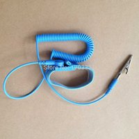 Wholesale Best Esd - Best Price 300pcs lot NEW Anti Static Antistatic ESD Adjustable Wrist Strap Band Grounding Blue #HS11014