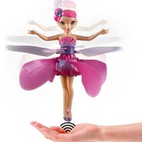 Wholesale Dropshipping Toys - Wholesale- Flying Fairy Doll Hand Infrared Induction Control Dolls Child Fly Toy Gift For Kids Children DropShipping Child Fly RC Toy Gift