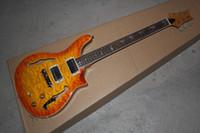 Wholesale Guitars Hollowbody - free shipping REED Custom Hollowbody II Solana Burst 10 TopBack Flame Guitar Musical Instruments