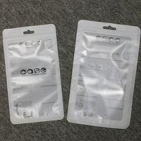 пластиковые пакеты для корпусов телефонов оптовых-Белый замок на молнии Аксессуары для мобильных телефонов чехол для наушников упаковка упаковочная сумка OPP PP ПВХ Поли пластиковая упаковка сумка