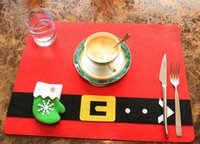 Wholesale Dining Forks - 2016 New designer wholesale knife and forks christmas table mats dining room new year decoration 3 designs