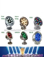 Wholesale Square Pool - 6W 12W 18W 24W 30W 36W Red Green Blue IP68 CREE LED Underwater Aquarium Pool Fish Tank RGB Spot light lamp 12V AC DC Free shipping LLFA