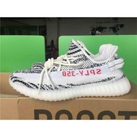 Wholesale High Boots For Women Cheap - High Quality Original Box Kanye West Boost 350 V2 Running Shoes for Men SPLY-350 Zebra Bred Copper Sports Shoes Sport Sneakers Cheap