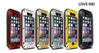 Wholesale Gorilla Glass Case 4s - for iPhone7 7plus 6Plus 6S Plus 5s 5c 4s LOVE MEI Waterproof Protective Case Gorilla Glass Metal Warrior Aluminum Powerful version 6Color