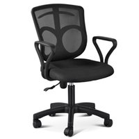 Wholesale Ergonomic Adjustable Swivel Computer Office Desk Chair Task Midback Mesh Chair