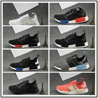 Cheap Wholesale 2017 New NMD R1 Runner PK Primeknit Hommes Chaussures de sport athlétique Chaussures Chaussure de course Marque Boost With Box