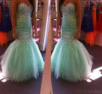 Wholesale Sells Mint - Prom Dresses 2015 Best Selling Mint Green Long Prom Dresses Sweetheart Sleeveless Sparkling Dresses Party Evening New Girl's Pageant Dresses